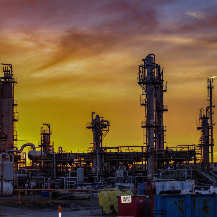 Image of a fiery sunrise over Bass Gas, Victoria