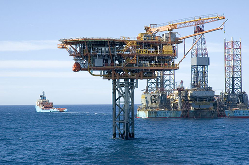 Kupe Offshore Production Station in the ocean